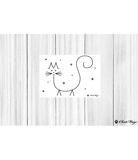 Carte postale, carte postale chat, ChatMage, carte postale noir et blanc, pattes de chat, minimalist