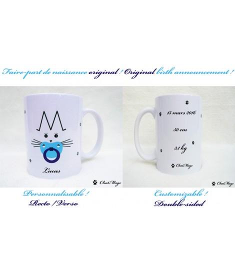 mug cat mug chatmage customizable mug kitten baby boy