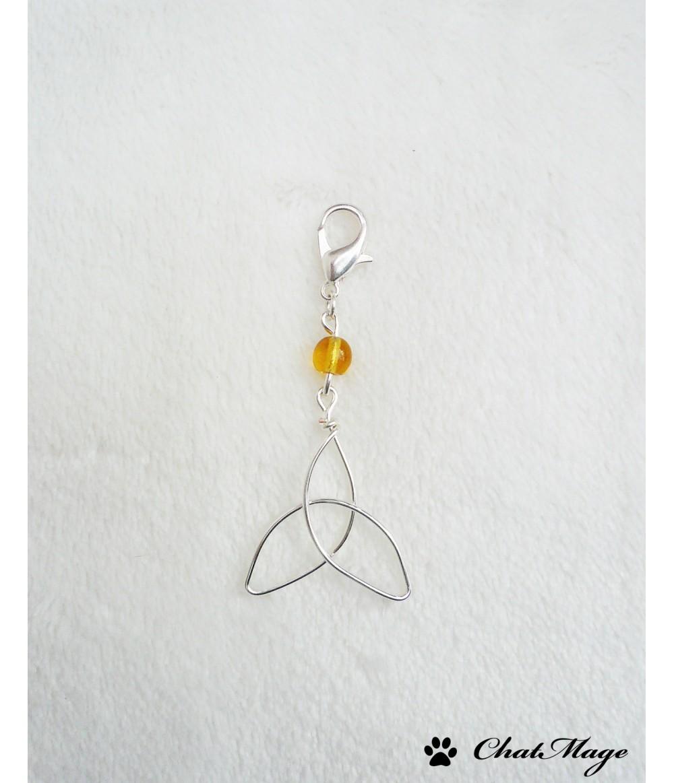 Celtic knot hair jewelry, celtic hair jewelry, yellow, honey, fairy