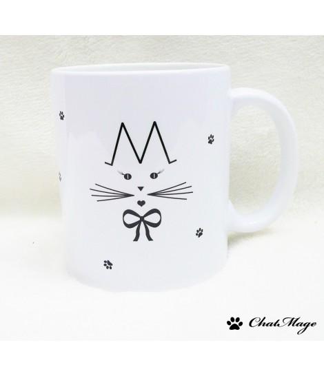Mug, mug chat, ChatMage, mug personnalisé, personnalisable, idée cadeau, tasse, tasse à café, mug à thé, mug kawaii