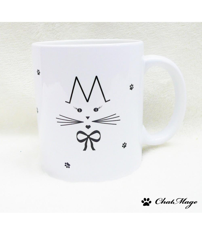 Mug Chatmage Cat Personalized Customizable Paws