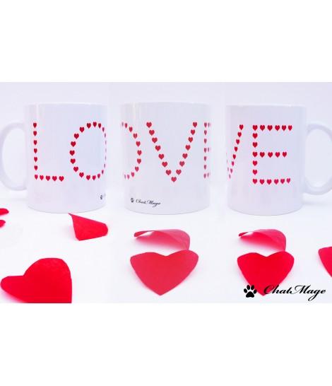 """Mug, mug chat, ChatMage, """"Le coeur sur la patte"""", coeur, pattes de chat, mug personnalisable"""