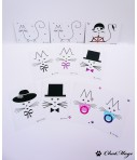 Lot de 30 cartes postales, cartes postales chat, postcrossing, carte postale minimaliste, carte postale kawaii, ChatMage