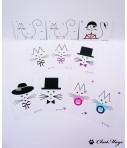 Set of 30 postcards, cat postcards, postcrossing, kawaii, minimalist postcard, baby postcards, postcards set, ChatMage