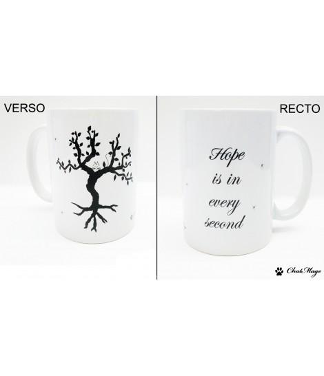 Mug, mug citation, mug à café, mug amitié, mug coeur, mug à message, mug noir et blanc, ChatMage, mug calligraphie
