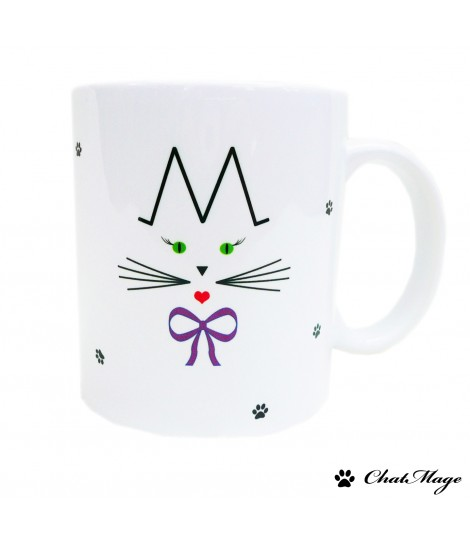 mug chat mug chatmage mug personnalisable mademoiselle. Black Bedroom Furniture Sets. Home Design Ideas