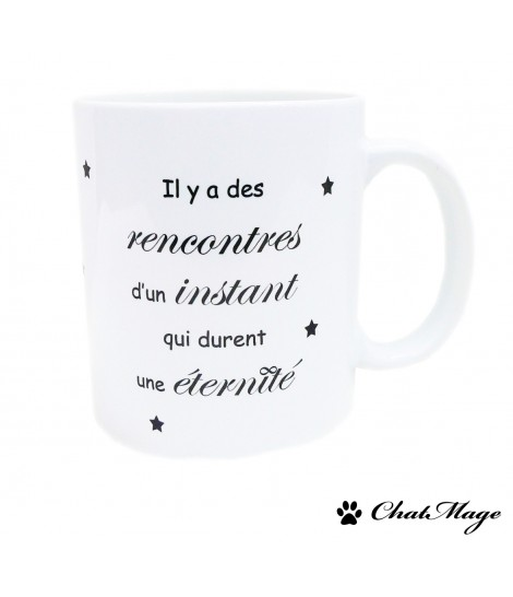 Mug, ChatMage, mug citation, mug à message, mug noir et blanc, tasse, mug motivation, mug à thé, papillon, tasse à café