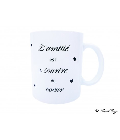 Mug, mug citation, mug à café, mug amitié, mug coeur, mug à message, ChatMage