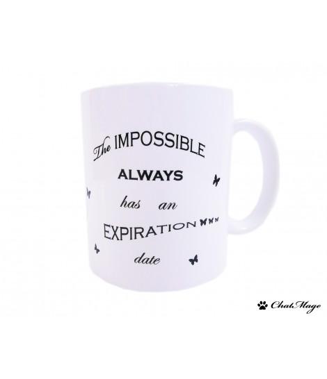 Mug, ChatMage, mug citation, mug à message, mug noir et blanc, tasse, mug motivation, mug à thé, papillon, tasse à café