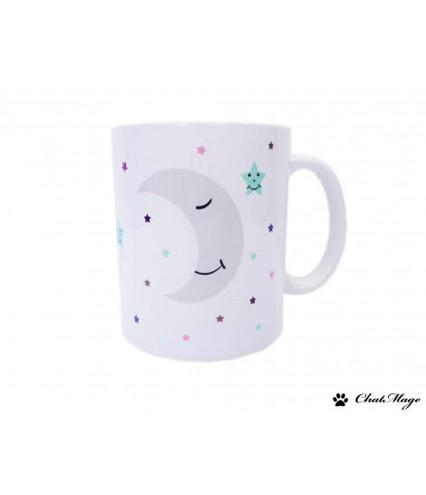 Mug, mug hiver, mug Noël, mug bonhomme de neige, mug flocon, mug flocons de neige, mug personnalisé, ChatMage