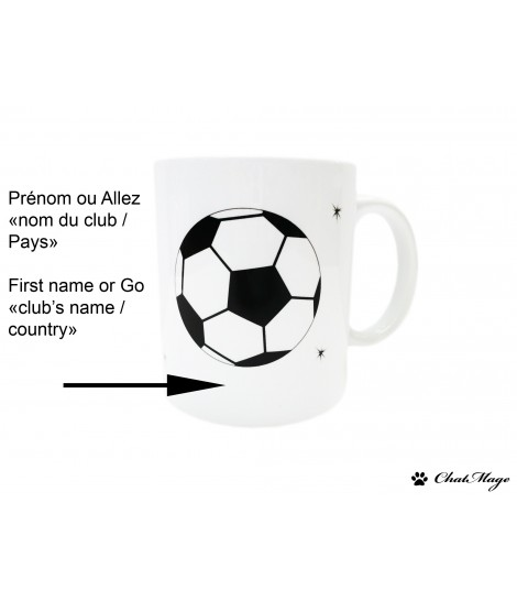 Mug, mug chat, chat, ChatMage, mug personnalisable, ChatFoot, pattes de chat, footballeur, ballon de foot