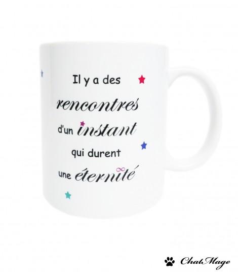 Mug, mug citation, mug à café, mug amour, étoiles, infini, ChatMage