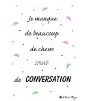 Affiche, affiche A4, affiche citation, poster, citation amusante, affiche minimaliste, affiche pois, ChatMage