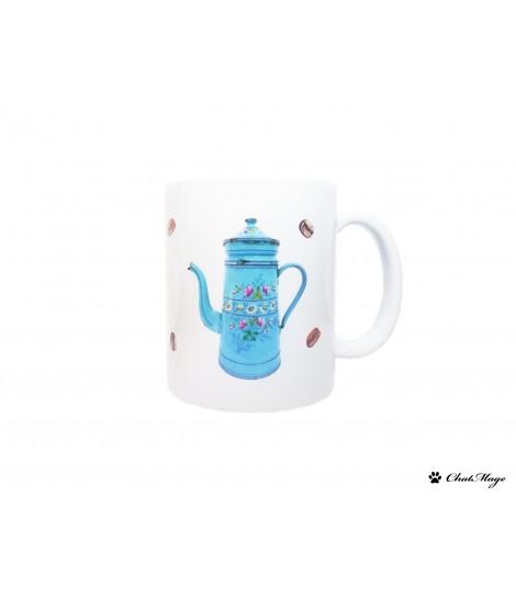 Mug, coffee mug, cat mug, black and white mug, minimalist mug, original mug, tea mug, ChatMage, personalized mug