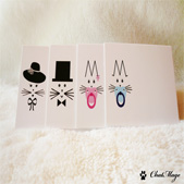 Cat placecards, ChatMage, placecards