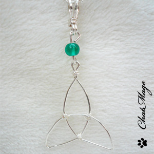 Collier celtique triquetra, ChatMage, ce