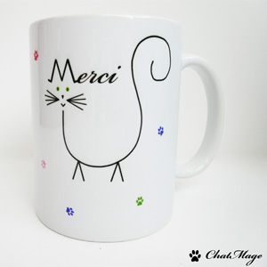 Mug merci, ChatMage