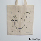 Tote bag, cat tote bag, ChatMage, cat tote-bag